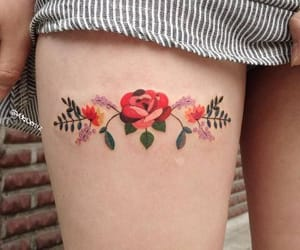 tattoo and ♥ image