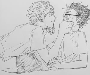 Boys Love, haikyuu, and nishinoya yuu image