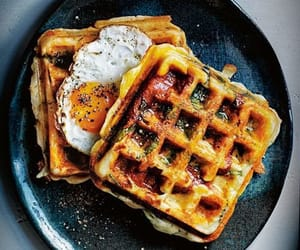 waffles, food, and breakfast image
