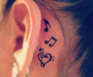 ear, musik, and note image