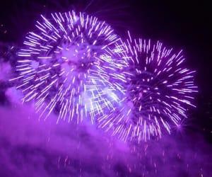 purple, fireworks, and light image
