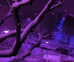 city, winter, and light image