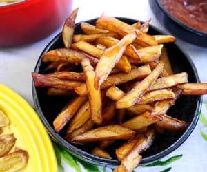baked, food, and French Fries image