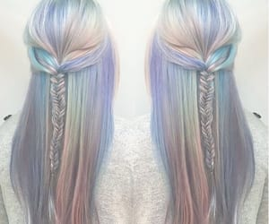hair, pastel, and hairstyle image