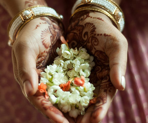 beauty, wedding, and flowers image