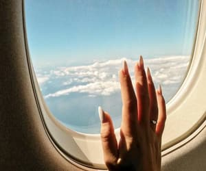 airplane, lifestyle, and nails image