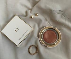 makeup, aesthetic, and earrings image