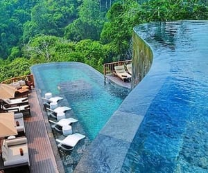 nature, pool, and travel image