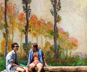 oliver, call me by your name, and monet image
