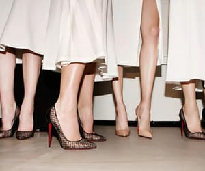 christian louboutin, fashion, and formation image