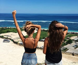 Summer Friends And Beach Image