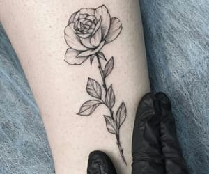 flower, dotwork, and girl image