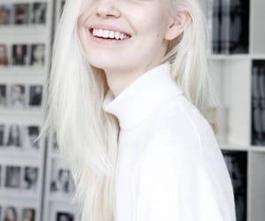 model, smile, and white image