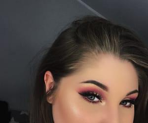 Black Eyeliner, brunette, and eyeshadow image