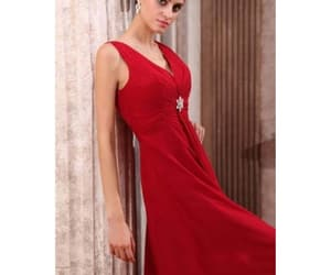 red bridesmaid dress and red dress for bridesmaid image