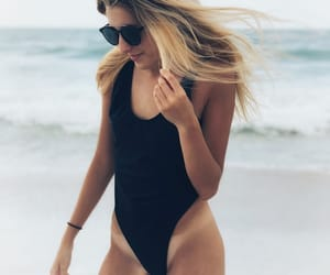 beach, black, and blonde image