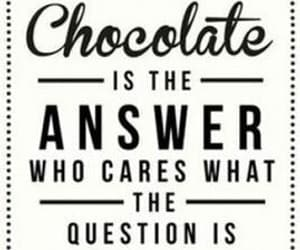 answer, food, and chocolate image