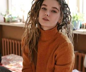 Chica, cabello, and naranja image