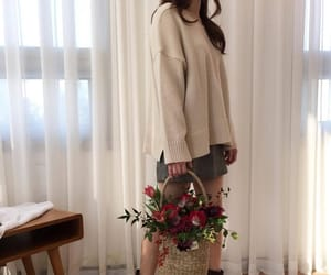 clothes, outfit, and flowers image