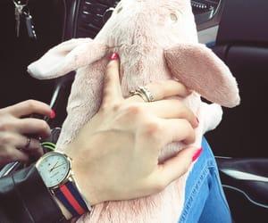 car, nails, and pink image
