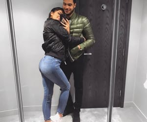 couple, mirror selfie, and love image