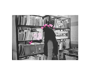 biblioteca, blanco y negro, and foto image