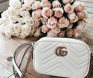 rose, gucci, and flowers image