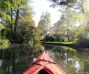 canoe, deutschland, and fall image