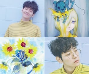 aesthetic, xiumin, and byun baekhyun image