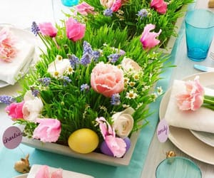 centerpiece, easter, and holiday image