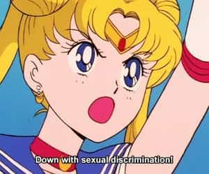 sailor moon, anime, and feminism image