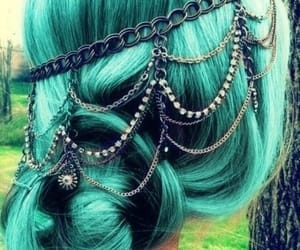 colored hair, hair, and hairstyle image