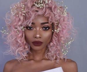 makeup, hair, and pink hair image