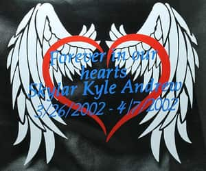 Angel Wings, memorial, and remembrance image