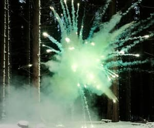 fireworks, green, and photography image