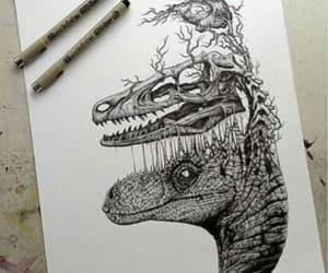 dinosaur, art, and drawing image