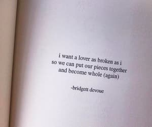 quotes, broken, and lovers image