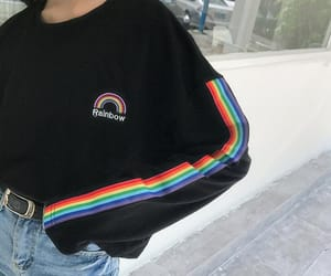 rainbow, fashion, and aesthetic image