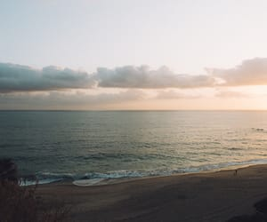 nature, ocean, and sunrise image