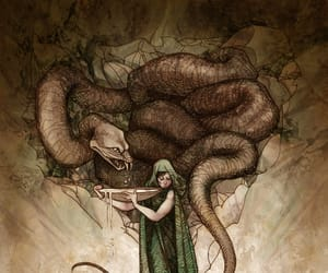 illustration, my art, and snakes image