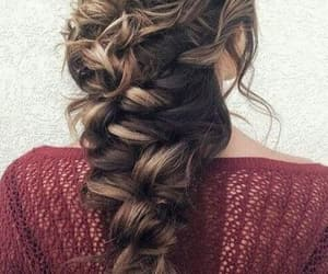 brown, hair, and curly image