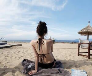 bathing suit, bikini, and girls image