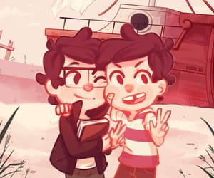 gravity falls, stanford pines, and stanly pines image