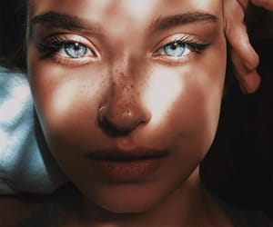 beautiful, blue, and girls image