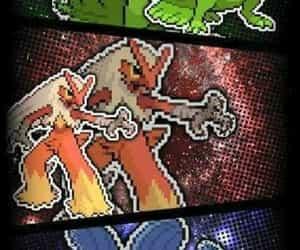 pokemon, treeko, and mudkip image