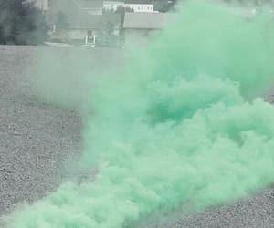 green, smoke, and pink image