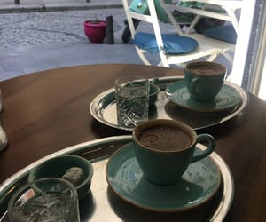 coffee, galata, and istanbul image
