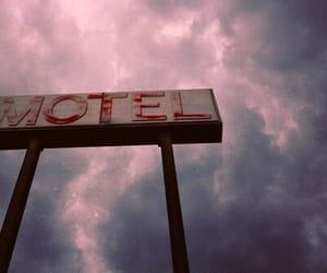 grunge, sky, and motel image