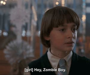 gif, snowball, and zombie boy image