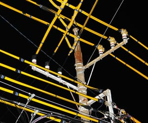 cables, night, and photography image